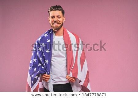 肖像 愛国的な 男 若い男 ファッション ビジネスマン ストックフォト © konradbak