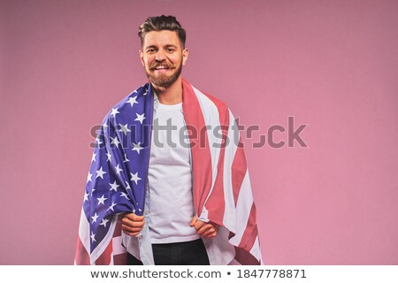 Portret vaderlandslievend man jonge man mode zakenman Stockfoto © konradbak