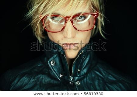 estilista · óculos · moda · desgaste · marrom - foto stock © CandyboxPhoto