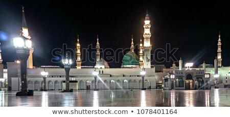 Mesquita noite edifício arquitetura Ásia moderno Foto stock © zurijeta