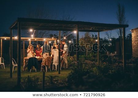 woman at night in the garden stock photo © lubavnel