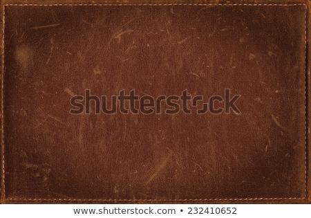 革 カバー 古い ブラウン 孤立した 白 ストックフォト © coprid
