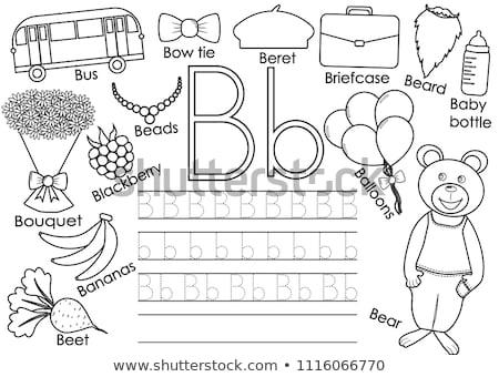 Flashcard alphabet B is for bottles Stock photo © bluering