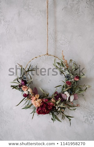 autumn flower arrangement garland Stock photo © compuinfoto