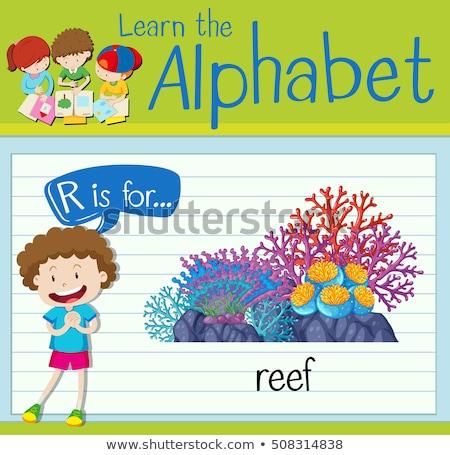 ábécé gyerekek gyermek háttér művészet oktatás Stock fotó © bluering