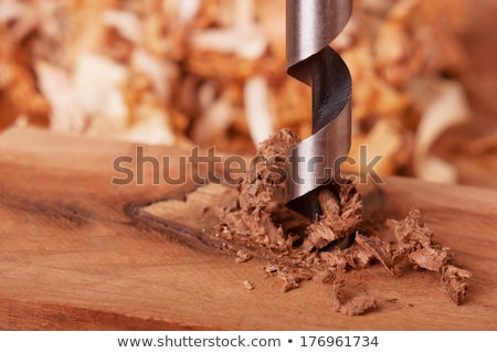 drilling bit in a carpenter workshop stock photo © giulio_fornasar
