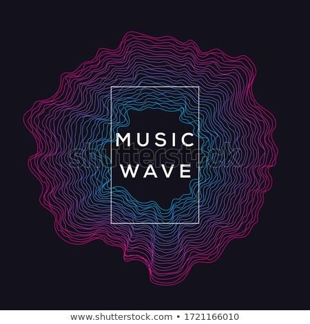 Black music sound waves. EPS 10 Stock photo © beholdereye