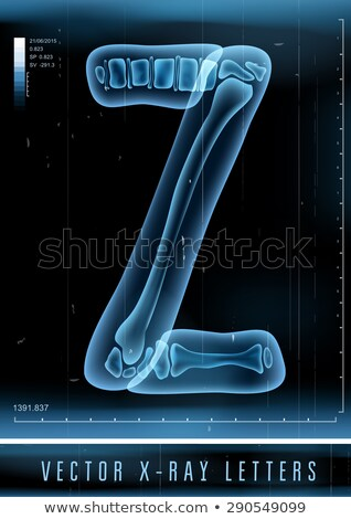 Transparent x-ray letter Z. 3D Stock photo © djmilic