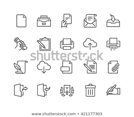 Impressora linha ícone fino vetor isolado Foto stock © smoki