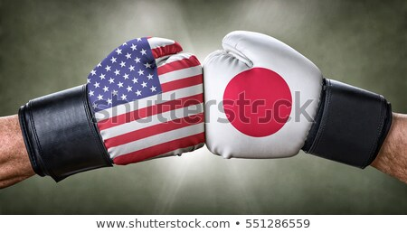 a boxing match between the usa and japan stock photo © zerbor