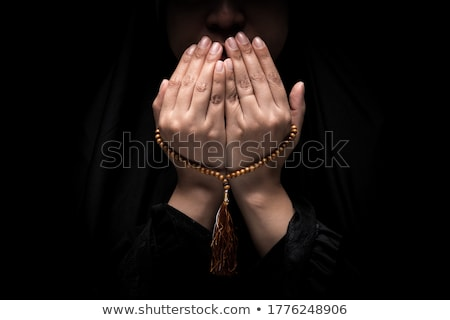 Woman with Rosary Beads  Stock photo © gregorydean