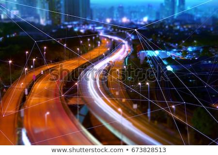 Város szállítás járművek út autó bicikli Stock fotó © kali