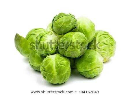Friss zöld Brüsszel izolált fekete étel Stock fotó © deandrobot