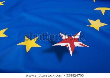 Egyesült · Királyság · EU · zászlók · festett · repedt · beton - stock fotó © sarts