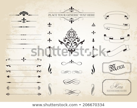 Page dividers and ornamental elements - vector set Stock photo © blue-pen