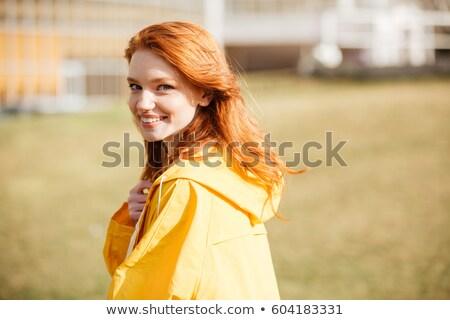 Retrato amistoso bastante jengibre pelo nina Foto stock © deandrobot