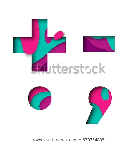 Paper cut out font PERIOD 3D Stock photo © djmilic