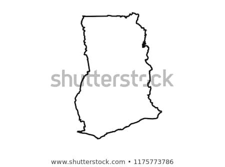 Гана · стране · карта · Мир · белый - Сток-фото © carenas1