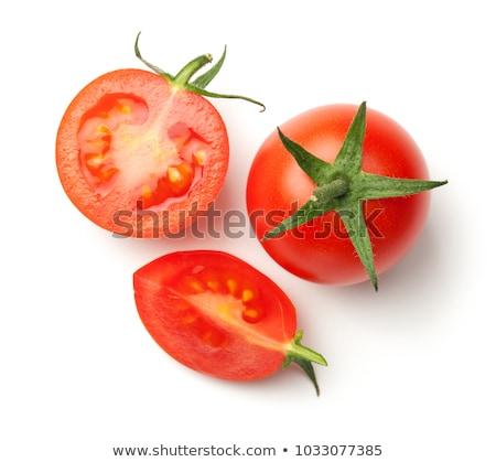 сырой · томатный · красный · Cut · продовольствие · белом · фоне - Сток-фото © Digifoodstock