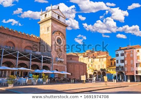 メイン · 広場 · 市場 · 中世 · 町 - ストックフォト © xbrchx