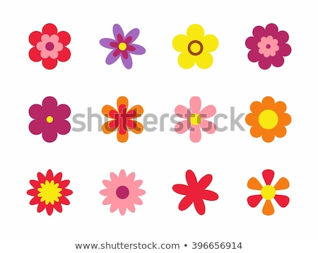 flowers flat icons stock photo © biv