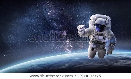 сильный человека астронавт шлема Поп-арт ретро Сток-фото © studiostoks