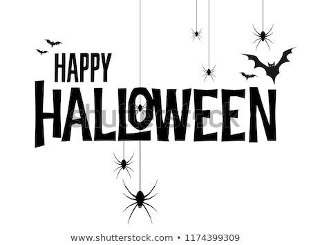 Mutlu halloween tatil kart 31 ahşap Stok fotoğraf © pashabo