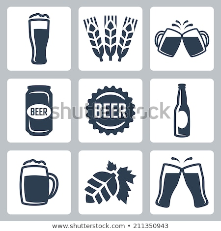 Clink mugs with beer icons. Stock photo © biv