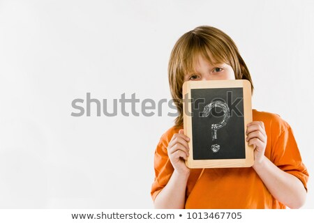 question mark in front of the face of a person Stock photo © nito