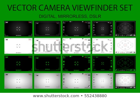 Camera Viewfinder Vector. Modern Camera Focusing Screen With Settings. Digital, DSLR. Camera Recordi Stock photo © pikepicture