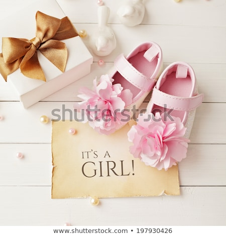 Baby girl shoes. Christening Stock photo © dashapetrenko