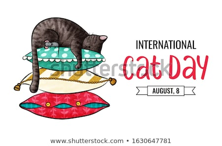 8 august World Cat Day Stock photo © Olena