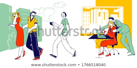 человека прикасаться стороны женщину Сток-фото © AndreyPopov