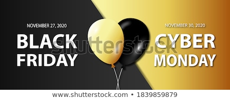Cyber Monday Black Friday Sale Sign Stock photo © Krisdog