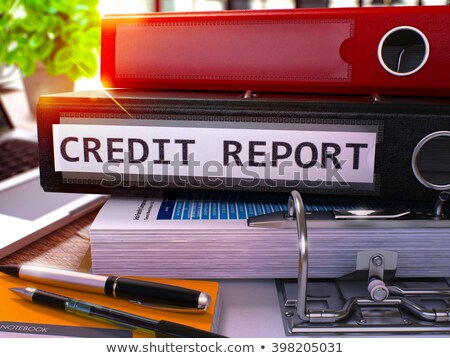 black office folder with inscription credit report stock photo © tashatuvango