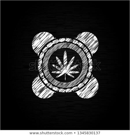 esrar · kenevir · yeşil · yaprak · simge · dizayn · kâğıt - stok fotoğraf © romvo