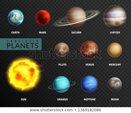 Sun, Mercury, Venus, Earth, Mars, Jupiter, Saturn, Uranus, Neptune, Pluto. Stock photo © NASA_images