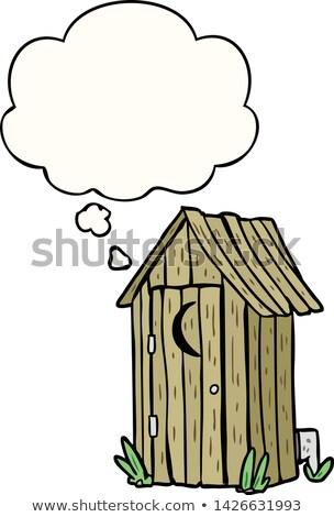bio · Открытый · туалет · вектора · иллюстрация · изолированный - Сток-фото © konturvid