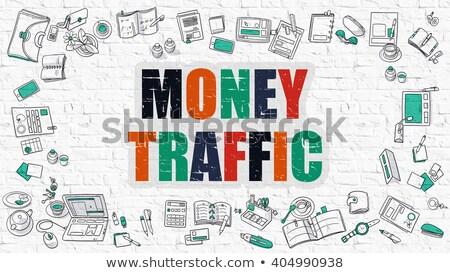 Money Traffic Concept. Multicolor on White Brickwall. Stock photo © tashatuvango