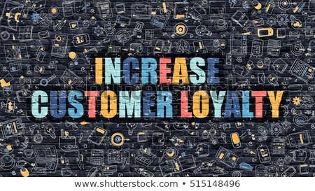 Wzrost klienta lojalność ciemne murem gryzmolić Zdjęcia stock © tashatuvango