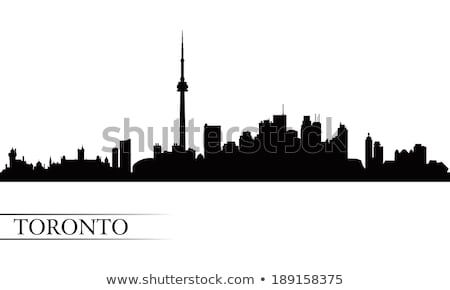toronto skyline silhouette stock photo © blamb