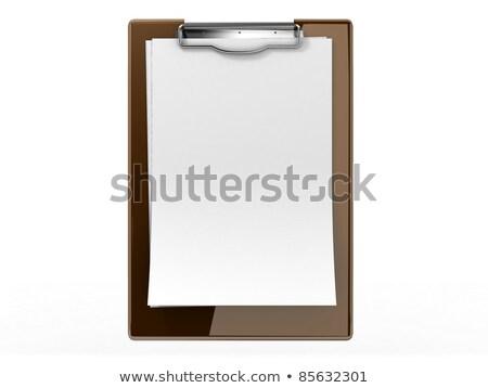 Akta kártya felmérés 3D szó mappa Stock fotó © tashatuvango
