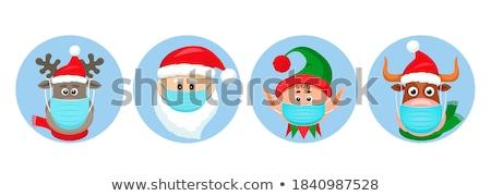 Navidad signo reno papá noel alrededor Foto stock © Krisdog