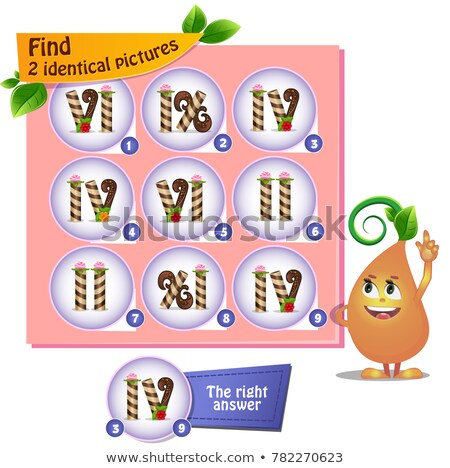 find 2 identical pictures sweets numbers stock photo © olena