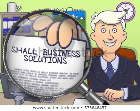 üzlet integráció nagyító firka stílus sikeres Stock fotó © tashatuvango