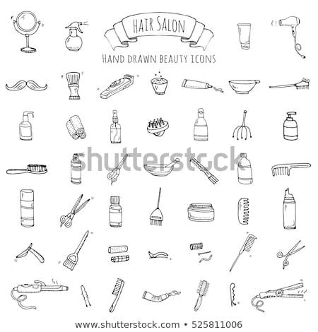 Secadora de pelo dibujado a mano boceto icono vector Foto stock © RAStudio