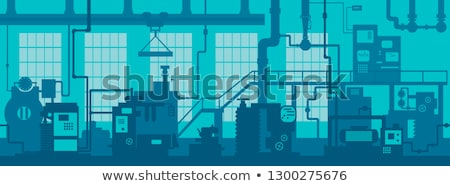 Industrial control panel vector illustration. Stock photo © RAStudio