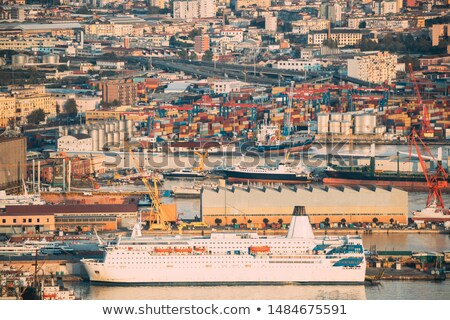 Shipping tanker in Italy city Stock photo © joyr