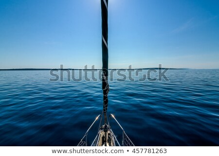 Sea sailboats side view on white background Stock photo © studioworkstock