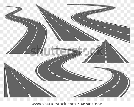 Set of curved highway tracks Stock photo © studioworkstock